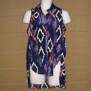 LIBERTY LOVE Blouse, M, Diamonds, Sleeveless